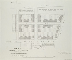 PLAN OF AN ESTATE AT ISLINGTON belonging to the CLOTHWORKERS COMPANY To be Let for Building